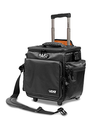 UDG Ultimate SlingBag Trolley DeLuxe Schwarz, Orange im Inneren MK2 (Ohne CD Wallet) U9981BLOR (Gear Wallet)