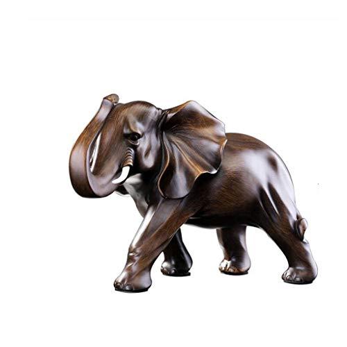 Zfggd Adornos de Elefantes Un par de Regalos de artesanía Mesa de...