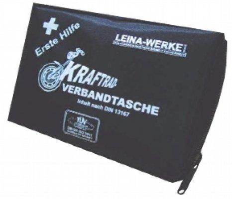 élastiques imperméables hypoallergéniques 17014 Moto kit de premiers secours type II avec Velcro, Noir/blanc