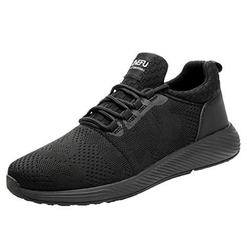 Zapatos de Seguridad para Hombre Trabajo con Punta de Acero, Zapatillas Deportivas al Aire Libre Moda...