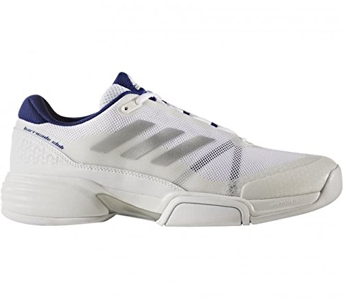 adidas Herren Barricade Club Cpt Tennisschuhe, Weiß (Footwear White/Silver Metallic/Mystery Ink), 45 1/3 EU