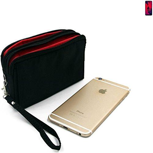 K-S-Trade Für Huawei P20 Pro Dual-SIM Gürteltasche schwarz Travel Bag, Travel-Case mit Diebstahlschutz praktische Schutz-Hülle Schutz Tasche Outdoor-case für Huawei P20 Pro Dual-SIM