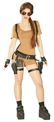 Ladies Sexy Lara Croft Tomb Raider 90s Computer Game Fancy Dress Outfit. Sizes 10 12 14