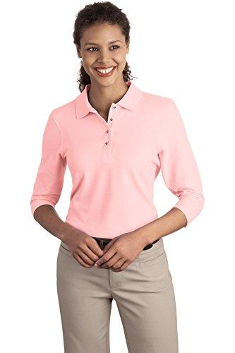 autorite-portuaire-femme-silk-touch-3-4-manches-chemise-sport-l562-rose-m