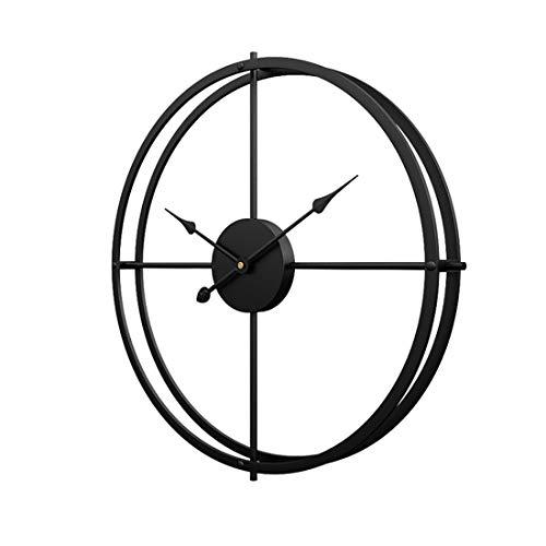 Tosbess Wanduhr XXL 60cm Metall Lautlos Uhr Wall Clock ohne Tickgeräusche