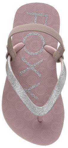 Roxy Mädchen Viva Glitter Sport Sandalen, Pink (Mauve Wine Mvw), 24 EU