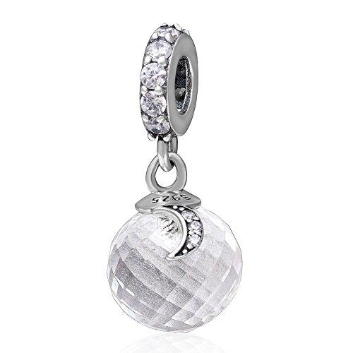 Star Charm 925Sterling Silber Mond Charme baumeln Charm Love Charm Jahrestag Charm für Pandora Charme Armband