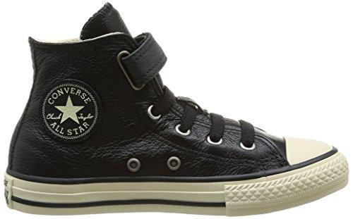 Converse Chuck Taylor All Star Junior Strap Hi, Baskets mode mixte enfant Noir