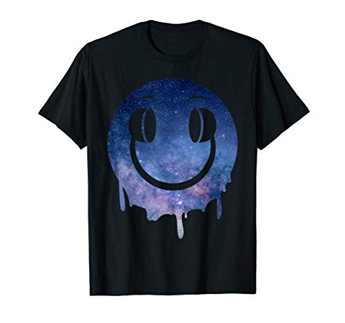 Melting DJ Smiley Face with Space Art T-shirt for Men or WOmen - S to 3XL