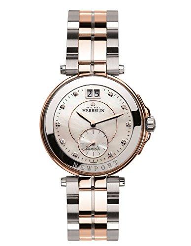 Michel Herbelin Unisex Erwachsene Analog Uhr mit Edelstahl Armband 18266/BTR89
