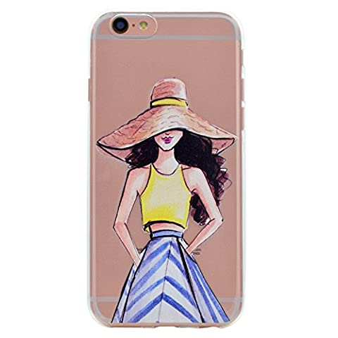 Coque iPhone 6 Plus / 6S Plus, iPhone 6 Plus / 6S Plus Etui TPU , Cozy Hut Série Dream Girls Motif Mode Etui Coque TPU Slim pour iPhone 6 Plus / 6S Plus (5.5 pouces) Mode Flexible Souple Soft Case Couverture Housse Protection Anti rayures Mince Transparent Silicone Cover - cosmogirl