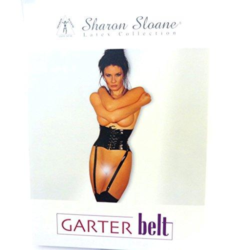 Les Trésors De Lily [M3899] - Latex strumpfband 'Scarlett' schwarz ()