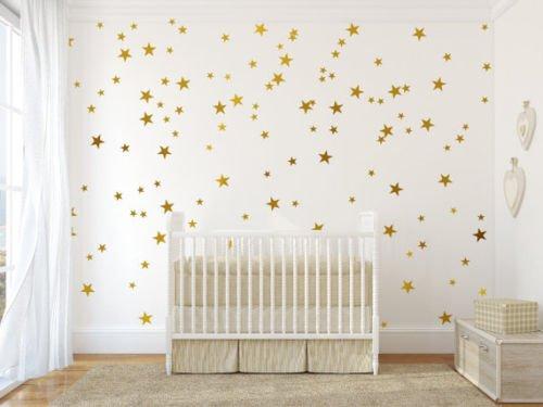Mixed size Stars Wall Stickers Kid Decal Art Nursery Bedroom Vinyl Decoration