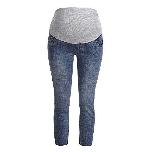 Vestiti premaman delle donne jeans pantaloni strappati de marca mode gravidanza maternità pantaloni maternità del puntello di pancia che allaccia i pantaloni di maternità di maternità di misura di
