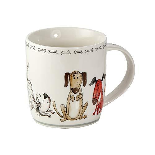 SPOTTED DOG GIFT COMPANY Tasse Hund Kaffeetasse Teetasse Kaffeebecher mit Hundemotiv Geschenk für Hundebesitzer Hundeliebhaber Frauen Männer