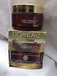 LOREAL AGE PERFECT HYDRA-NUTRITION GOLDEN WRINKLE CREAM MATURE THINNING SKIN