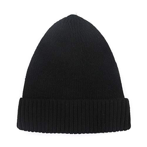 Chef Plus Für Kostüm Erwachsene - XIAXIACP Frauen Wollmütze Plus Samt Dicke Strick Warme Einfache Kopfbedeckung,C