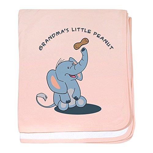 CafePress–Oma 's Little Peanut–Blau–Baby Decke, Super Weich Für Neugeborene Wickeldecke petal pink