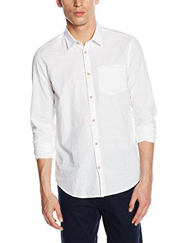 Tom Tailor Floyd slub linen look shirt - Chemise de loisirs - Homme Blanc (white 2000)