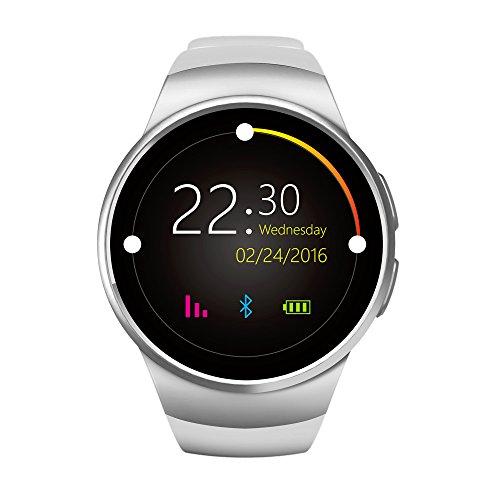 Best KW18Smart Watch Herzfrequenz Monitor Bluetooth 4.0Smartwatch mtk2502C Siri & Gestensteuerung für iOS Android Mobile