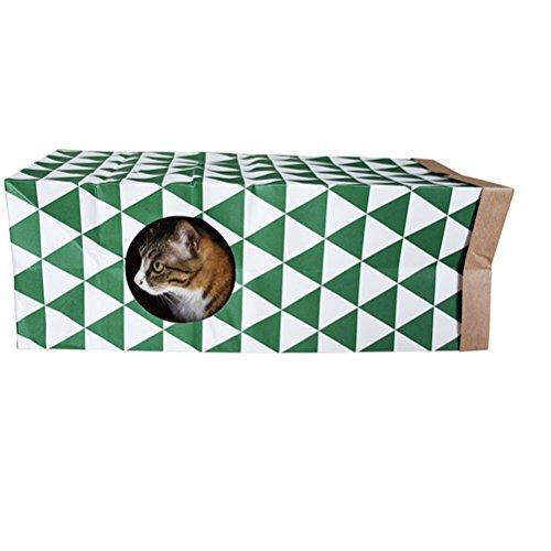 NICERIO Katzentunnel Spieltunnel Spielzeug für Katzen Kleintiere Kaninchen Kätzchen mit Katzen-Minze