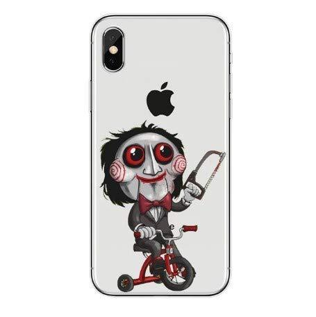 Desconocido Funda para iPhone 6 / 6S, Figura Muñeco Saw Triciclo Pelicula Terror Horror Frikis Carcasa Plastico iPhone (iPhone 6 / 6S (4.7'))