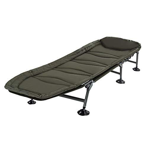 Folding bed sedia a sdraio pieghevole, lettino da campeggio, lettino prendisole con poggiatesta per il campeggio e il giardino (colore : e)