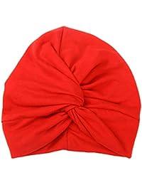 Boomly Unisexo Bebé Sombrero De Turbante Recién Nacido Sombrero De Cabeza  Cinta para Niños Niños Headwear Toddlers Wrinkle… d8505c265d7
