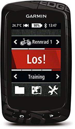Garmin Edge 810 GPS Bike Computer Cartografico con GPS e Touchscreen, Comunicazione ANT+ e Bluetooth, Colore Nero e Carbonio