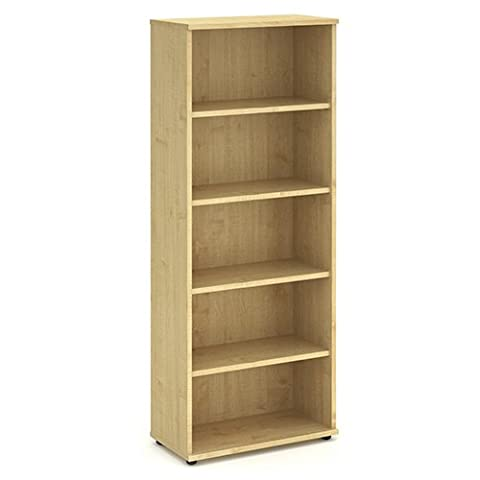 2000mm High Bookcase, Adjustable Shelves - Office Bookcase in Beech, Oak, Maple, White or Oak finish. From the Phoenix Office Furniture Range by Relax Office Furniture