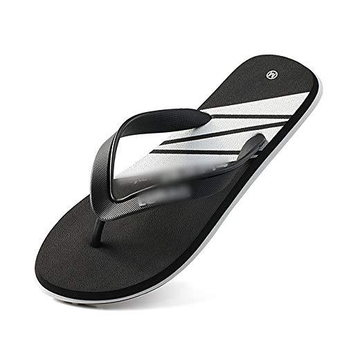 EGS-Shoes Die Flipflops der neuen Männer Sommer-Mode-im Freienhefterzufuhren Klemmen Beleg-rutschfeste Strand-Schuh-Sandelholze,Grille Schuhe (Farbe : Triangle Black, Size : L/43-44) Mia Suede Shoes