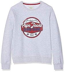 Pepe Jeans Jungen Truman Pb581073 Sweatshirt, Grau (Grey Marl 933), 14-15 (Herstellergröße: 164/14 Jahre)