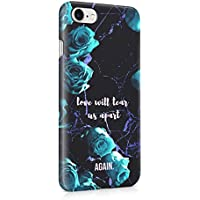 Love Will Tear Us Apart.... Again Turquoise Roses Hard Plastic Protective Snap On Case Cover For Apple iPhone
