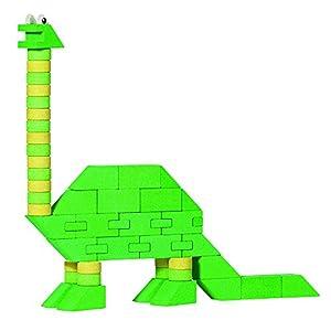 ANKER- Puzzles 3DPuzzles 3DANKERCaja de construcción Dinosaurio (Grande) Brontomos, Multicolor (105)