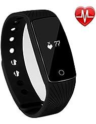 semaco Activity Tracker mit Herzfrequenz Monitor, Bluetooth Smart Armband Fitness Tracker mit Schrittzähler Kalorienzähler Sleep Monitor Sport Armband für Android und IOS