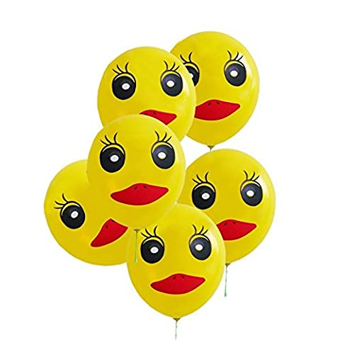 AIERNUO 100 pcs Cute Duck Balloons 12 inch Thick Latex Balloons for Birthday Party and Romantic Wedding (Yellow Duck Balloons) by AIERNUO