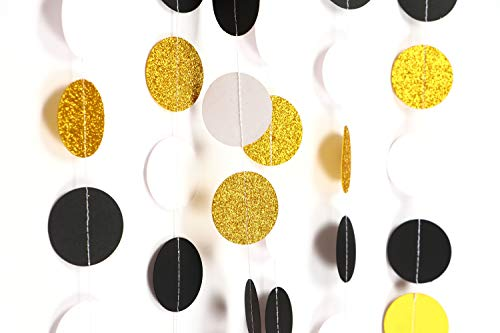 Generic Glitzer-Kreis-Punkte Small Gold Glitter Black Whitedecorations,party Decorations,party Décor,creative Decoration (Kreise Glitter)