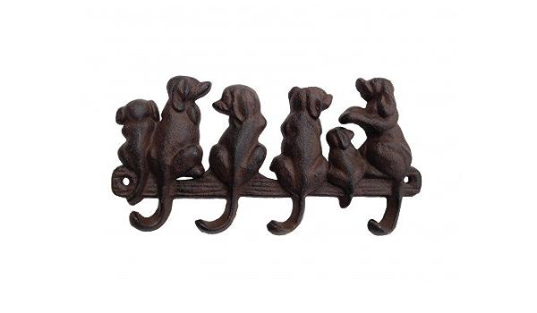 Zauberhafter Hunde HakenWautzi im Shabby chic aus Gusseisen H.14,8 cm