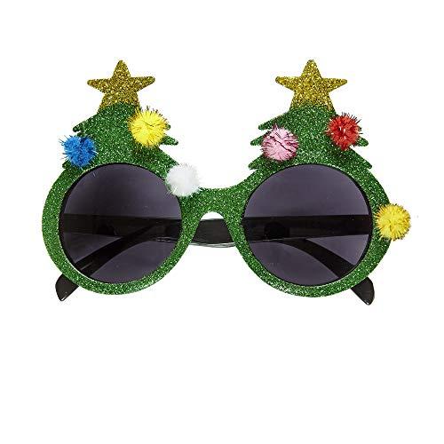 r Weihnachtsbaumbrille, Unisex- Erwachsene, Grün, Taglia Unica ()
