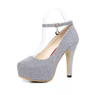 Moda Donna Sandali Sexy donna tacchi Primavera / Estate / Autunno Comfort abito pu Stiletto Heel fibbia Altri / nero / viola / Argento Altri Silver