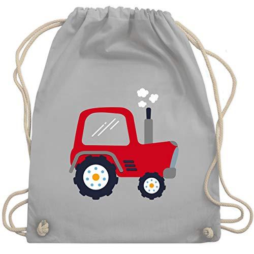 Hi Spitze (Fahrzeuge Kind - Kinder Traktor - Unisize - Hellgrau - WM110 - Turnbeutel & Gym Bag)