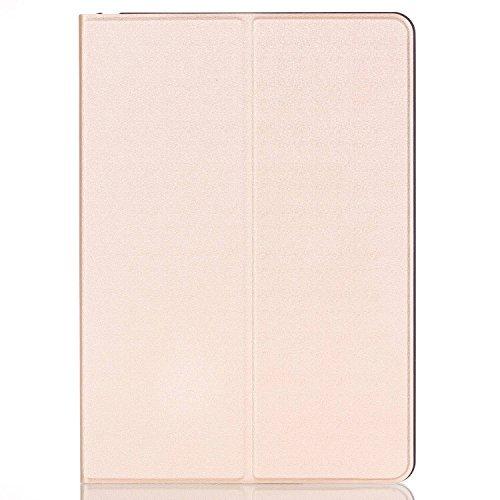 Elegant Ledertasche Smart Case Leder Hülle Cover mit Auto Schlaf / Wach Funktion für 2016 Gen. Apple iPad Pro 9.7 Zoll (Champagner )