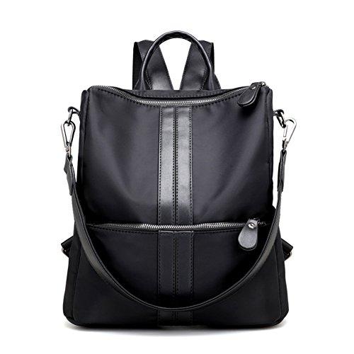 Double umhängetasche?multifunktionale rucksack,oxford tuch/reisetasche-schwarz schwarz