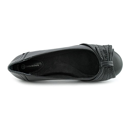 Giani Bernini Dito Femmes Cuir Chaussure Plate Black