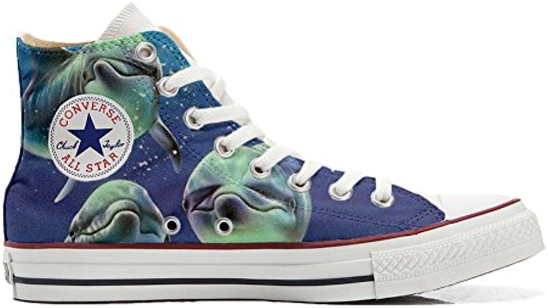 Converse All Star personalisierte Schuhe (Handwerk Produkt) mit 3 delfini in posa