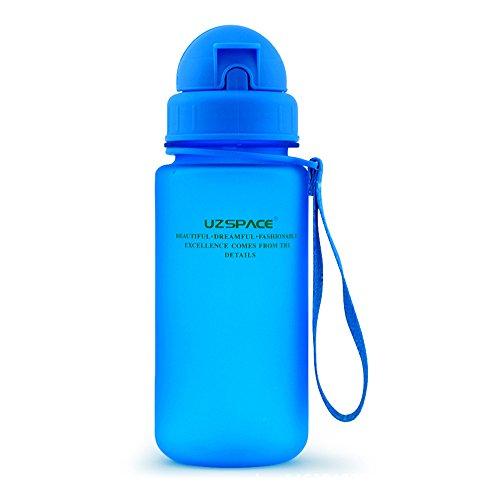 Yvonnelee Hochwertige Kinder Trinkflasche Wasserflasche für Jungen und Mädchen in der Schule und Freizeit mit Trinkhalm/ Strohhalm Kunststoff Flasche aus Tritan BPA Frei Klein