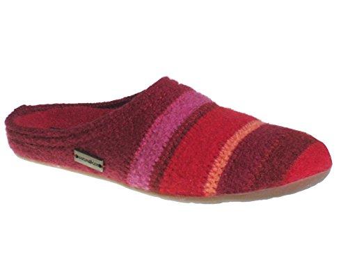 Haflinger Everest Prisma 481004 Pantofole donna Rot
