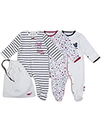 The Essential One - ratón Pijama Pijamas para bebé niñas - Paquete de 3 - Rosada - Blanco - ESS195