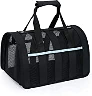 Small Pet Carrier Travel Bag, Airline Approved Carrier Bags Under Seat, with Mesh Top and Sides, for Small Ani