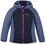 Columbia Wasserabweisende Jacke für Mädchen, Powder Lite Hooded Insulated Jacket, Polyester, blau (nocturnal/eve), Gr. S, EG0009